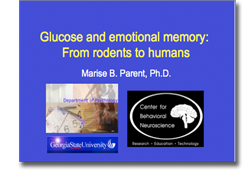 Glucose and Memory powerpoint
